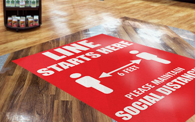 COVID-19 signs and graphics printing solutions